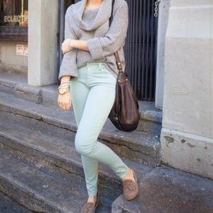 ⚡flashSALE⚡Free People - Mint Green Skinny Jeans